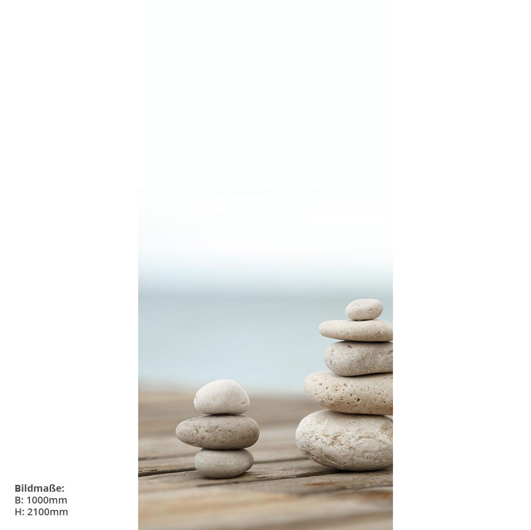 Zensteine auf Steg Eck