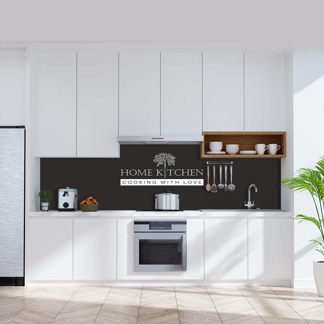 Küchenrückwand Home Kitchen Möhre schwarz