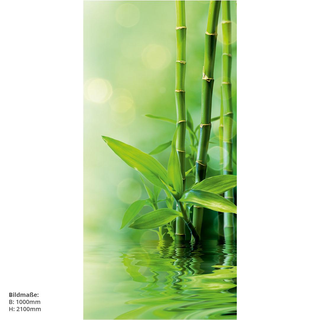 Duschrückwand Bambus Wasser Massen