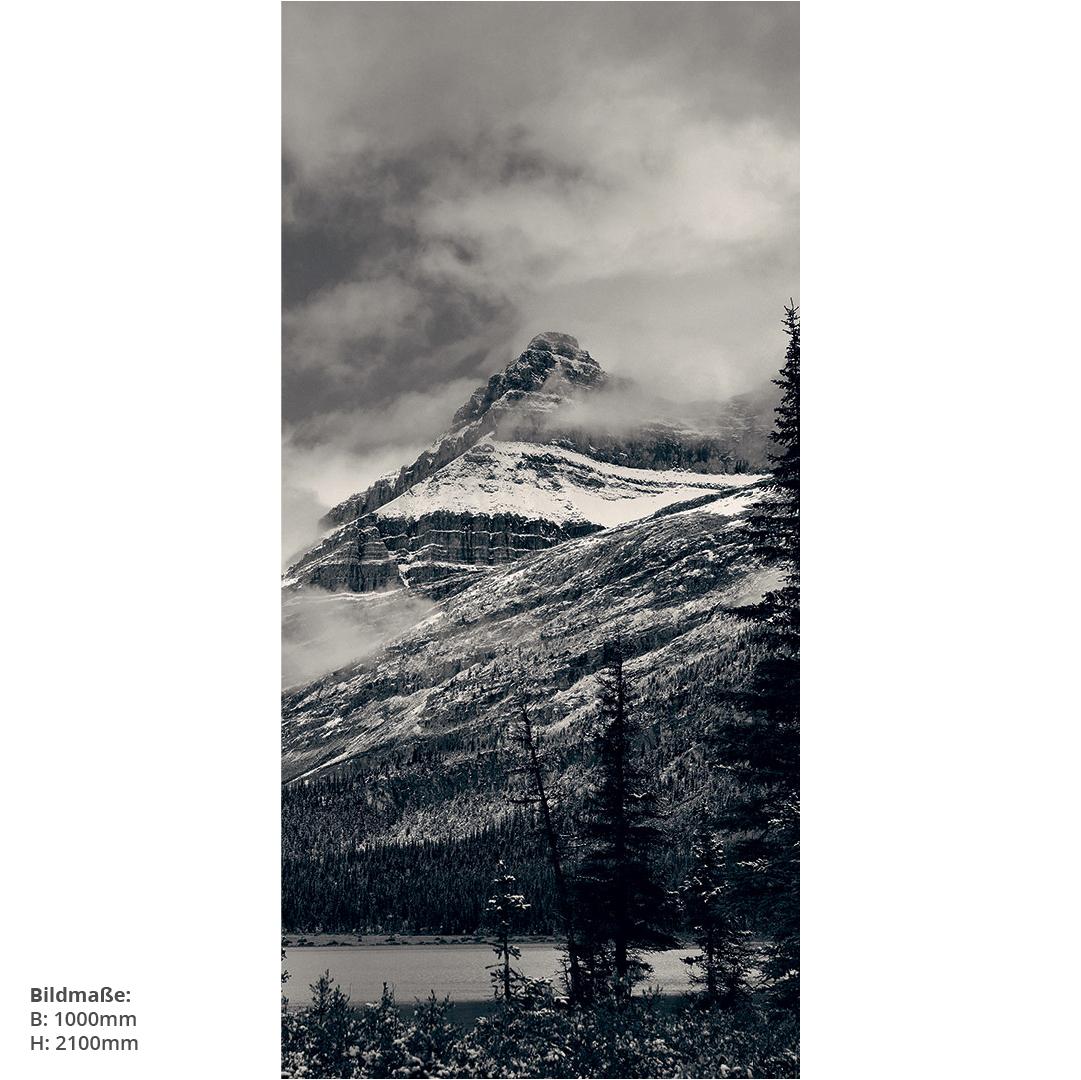 Duschrückwand Berge und Wald SW Massen