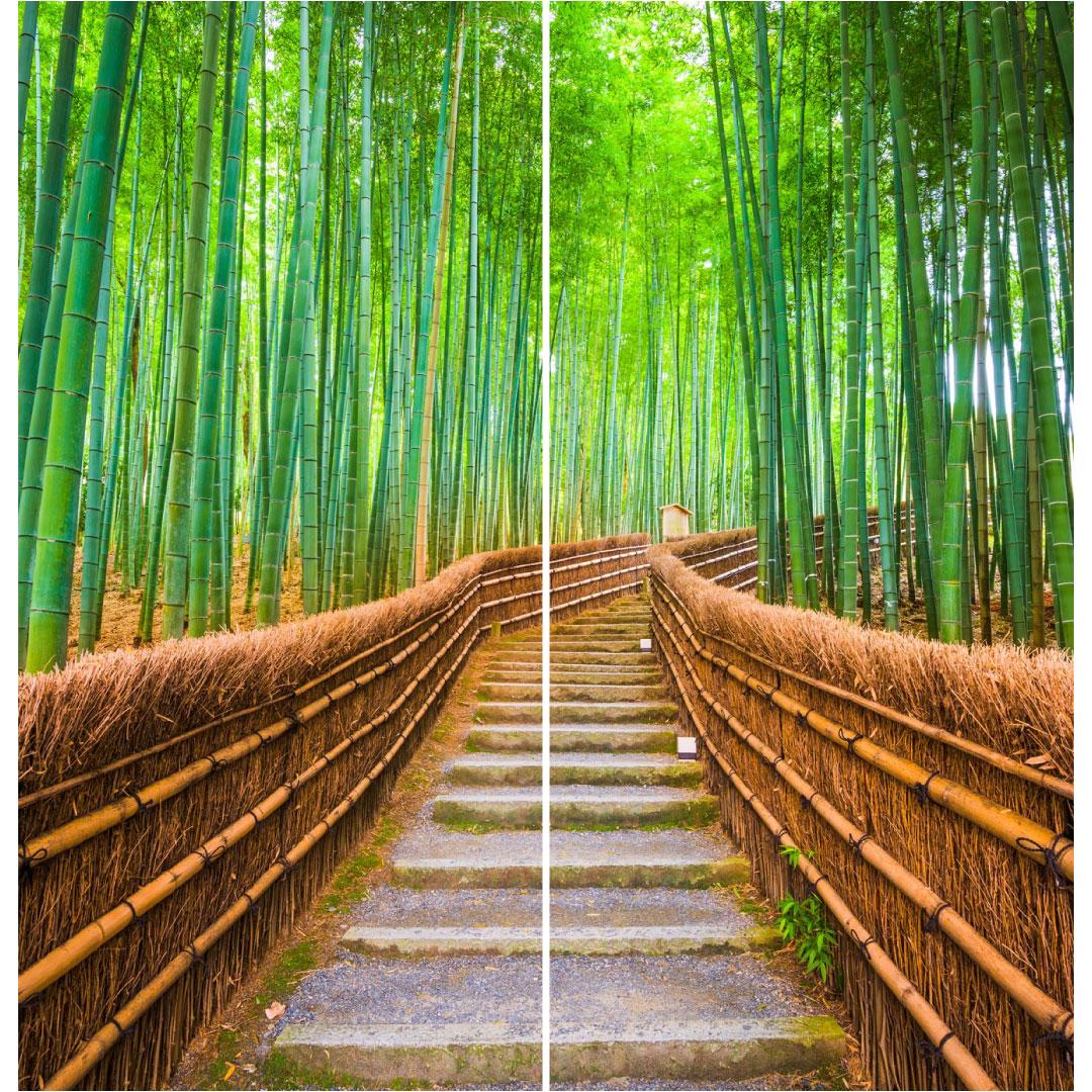 Duschrückwand Bambuswald Grösse