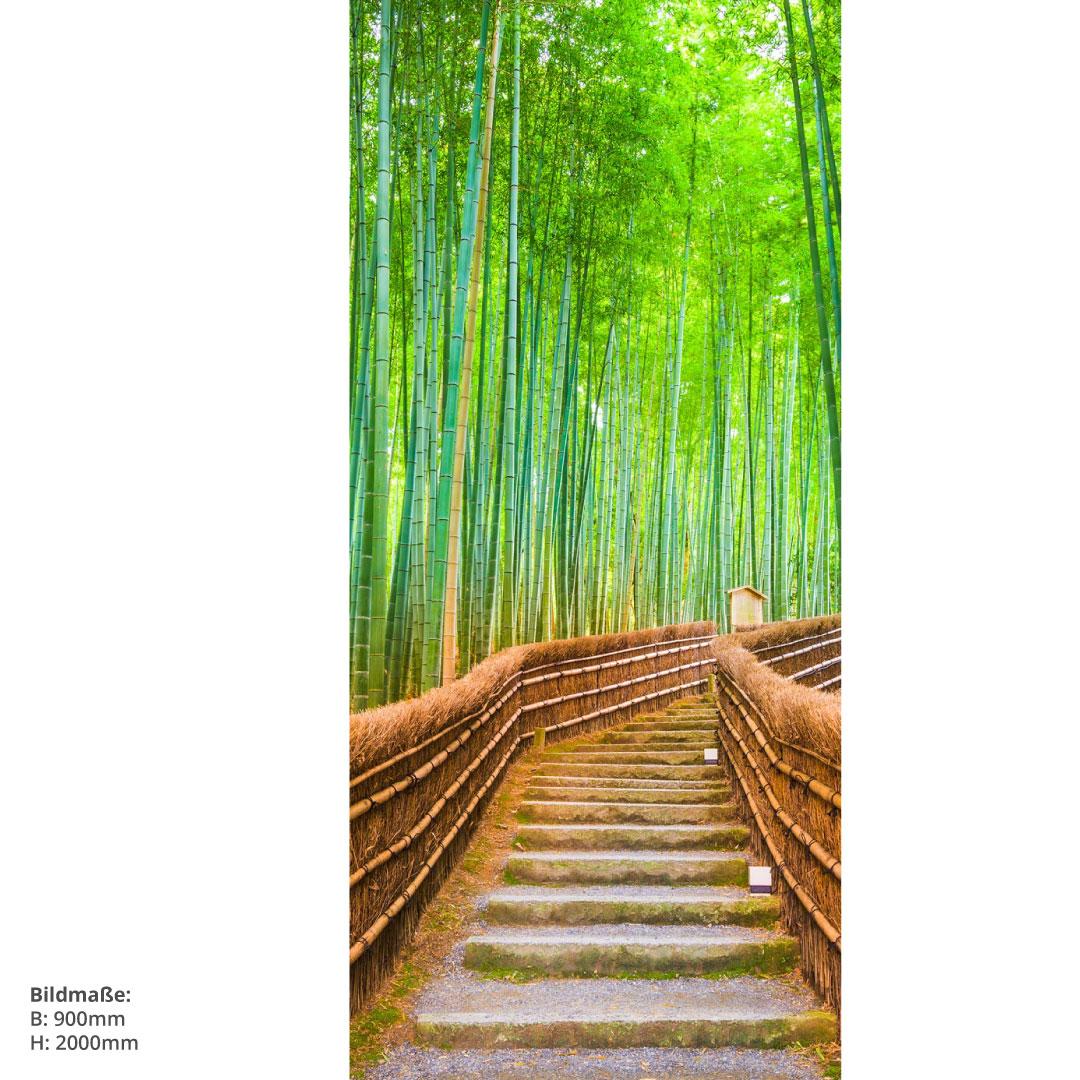 Duschrückwand Bambuswald 90x200cm