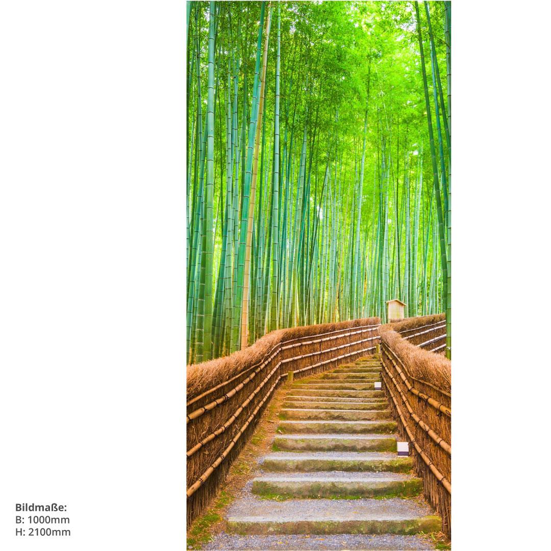 Duschrückwand Bambuswald 100x210cm