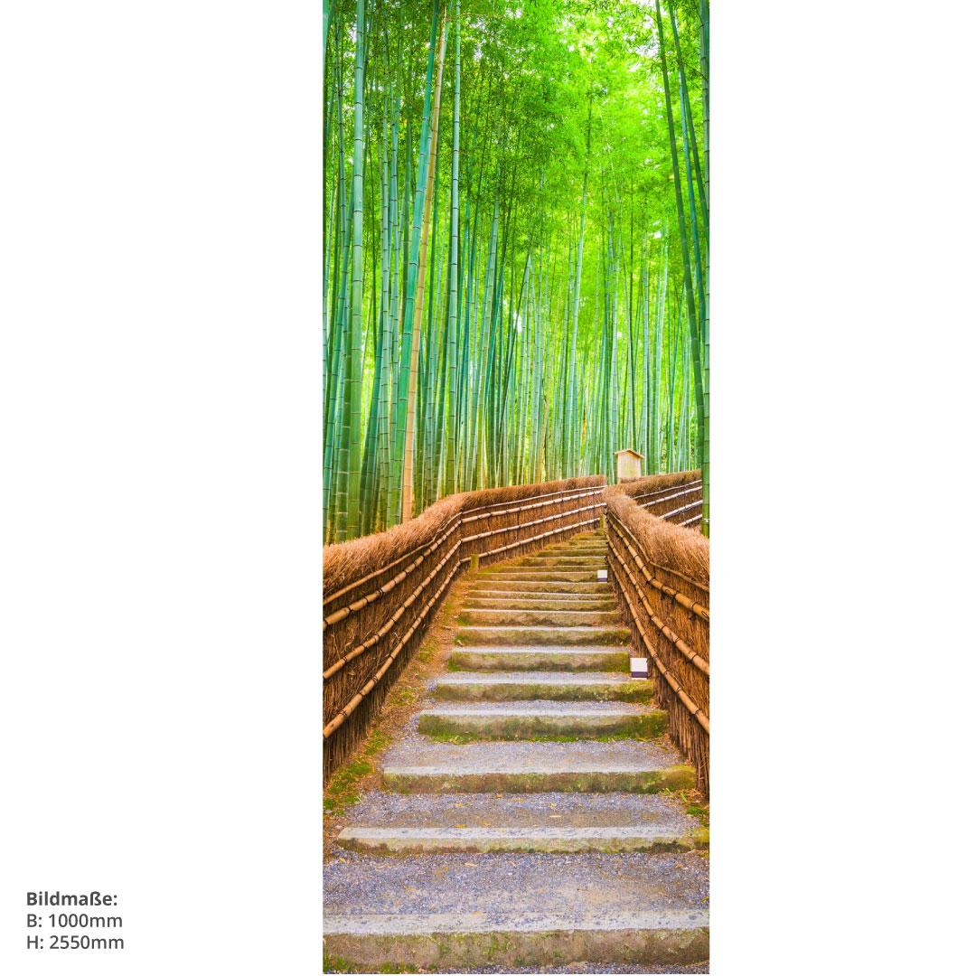 Duschrückwand Bambuswald 100x255cm
