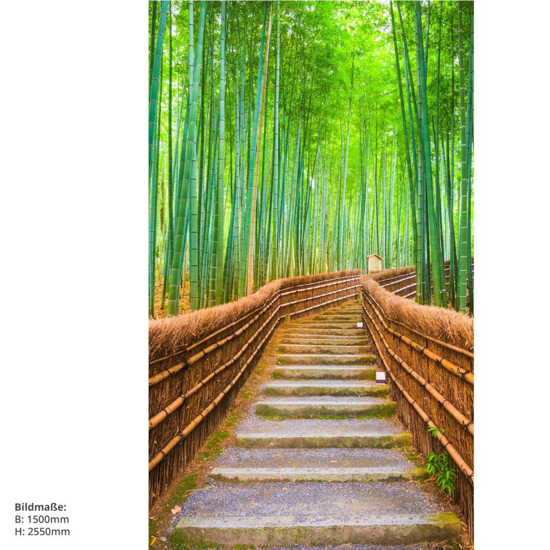 Duschrückwand Bambuswald 150x255cm