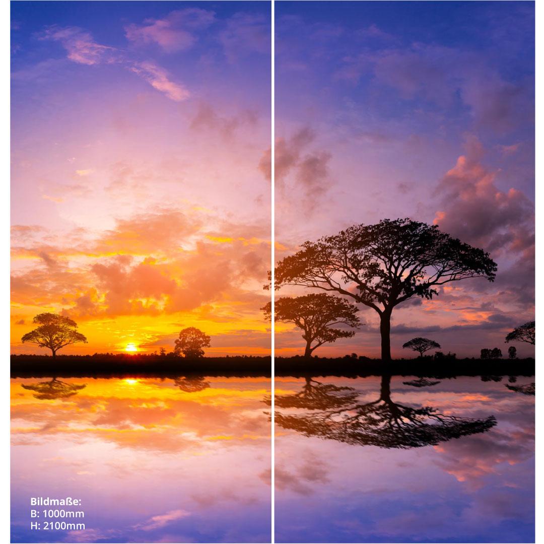 Duschrückwand Sonnenuntergang Kenia