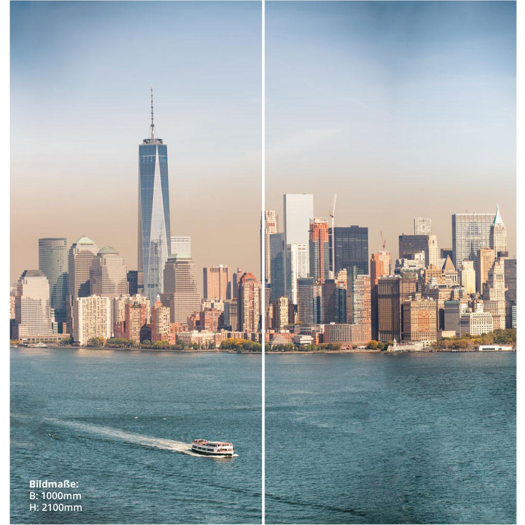 Duschrückwand New York über Eck Set