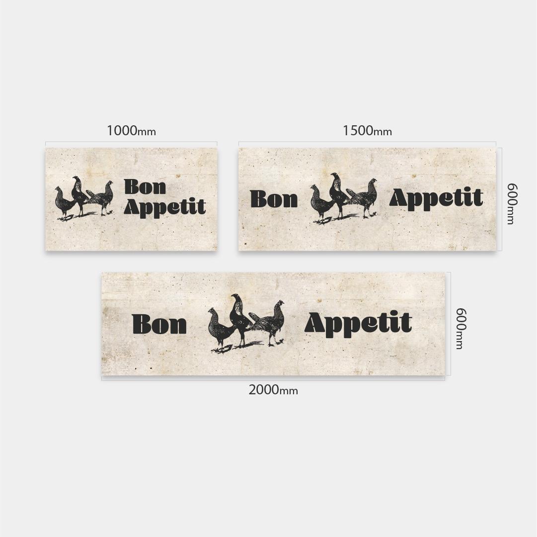 Küchenrückwand Bon Appetit auf Beton Vintage 3 Massen