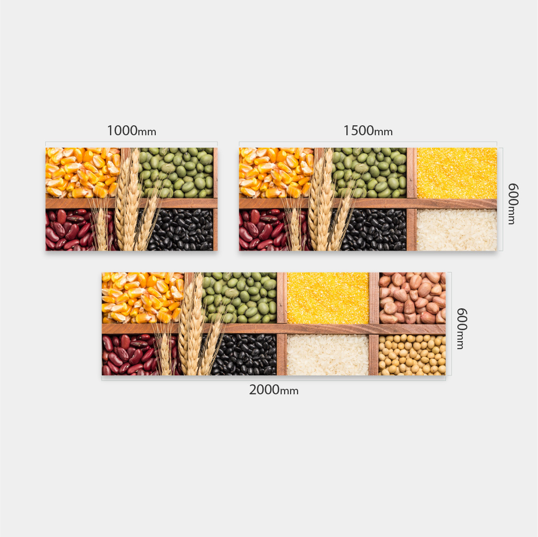 Küchenrückwand Lebensmittel Massen