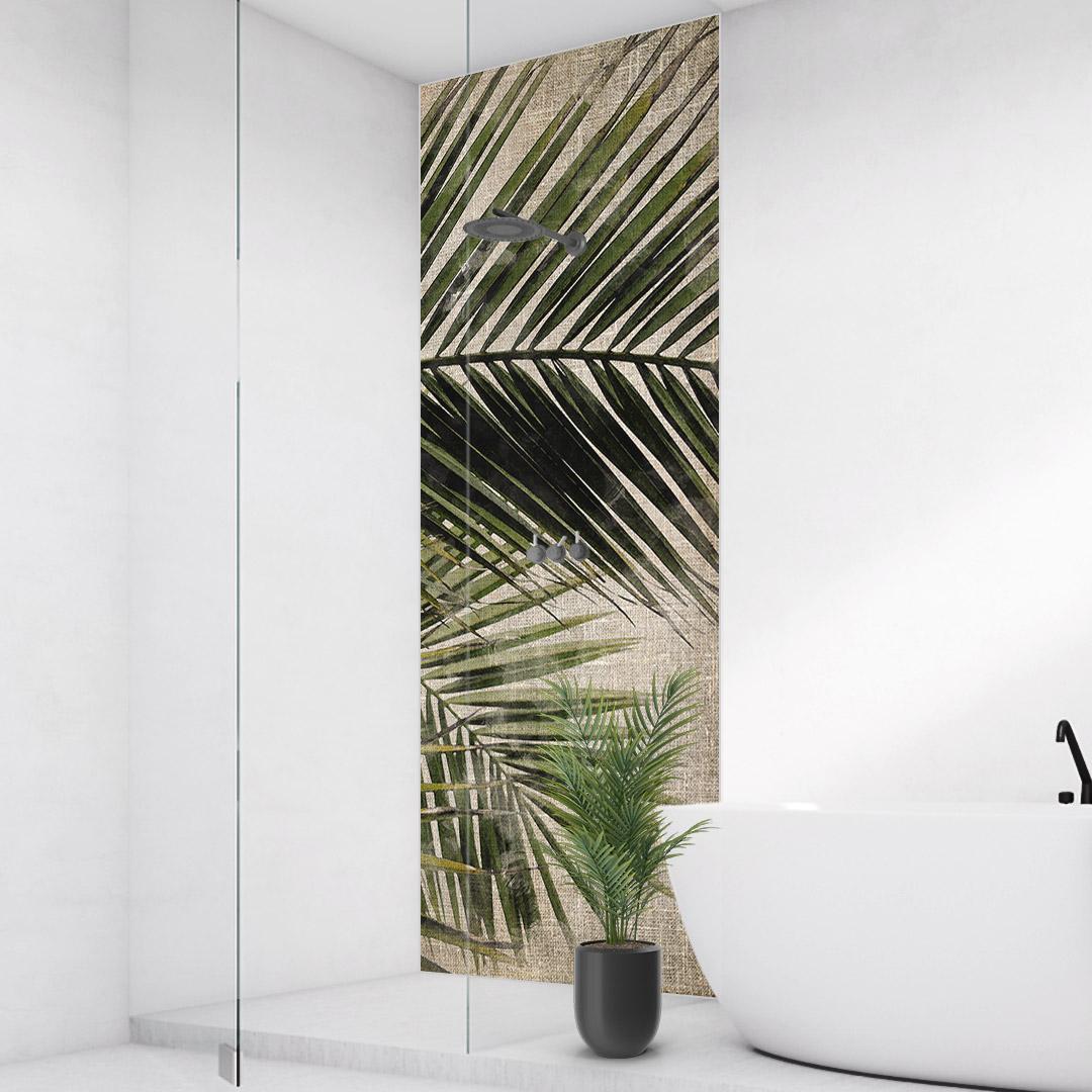 Duschrückwand Palmen Vintage
