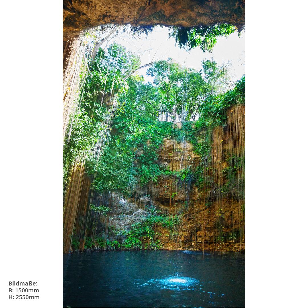 Paradise Cave Naturbild Duschwand