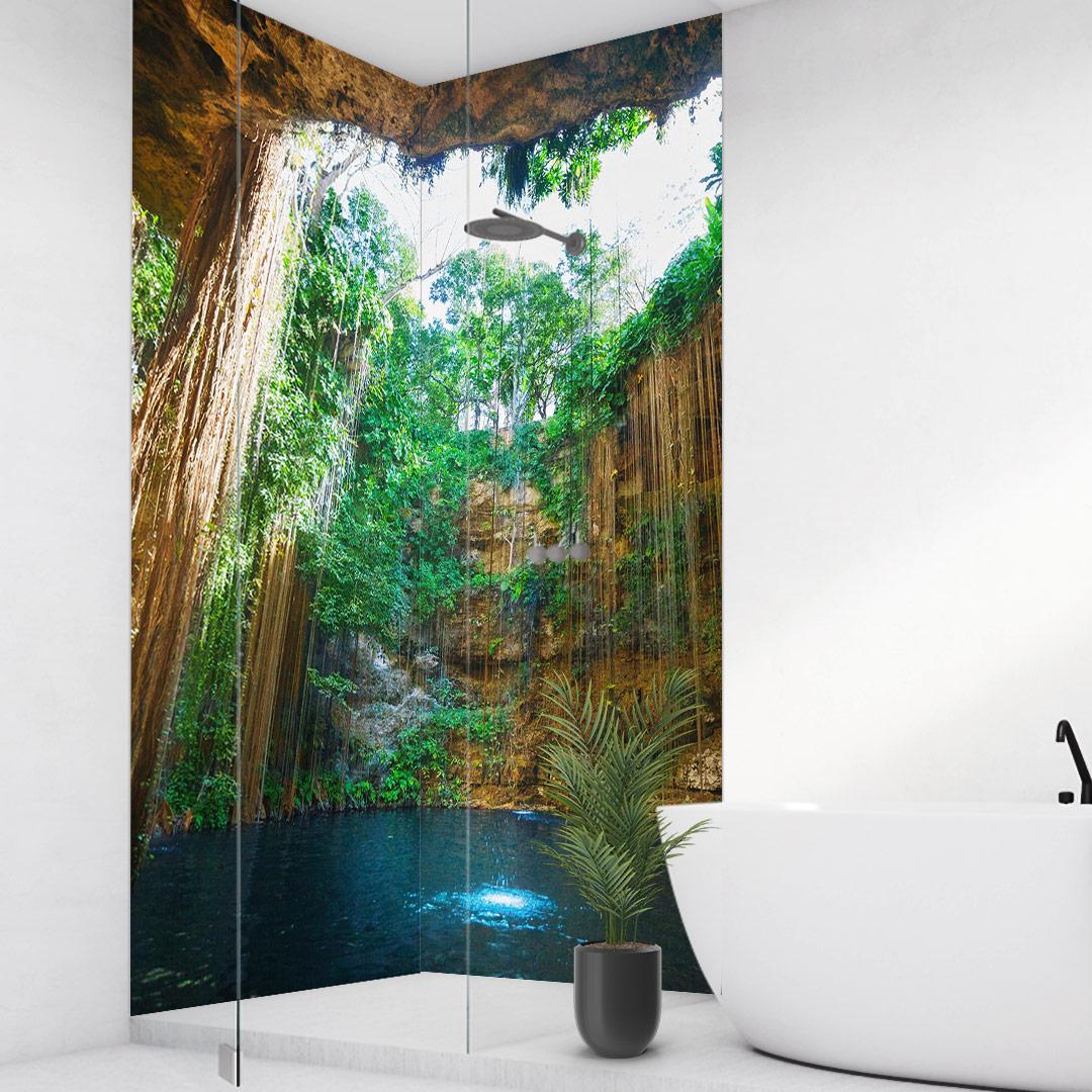 Duschrückwand Paradise Cave über Eck Set