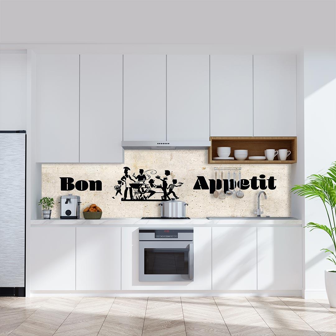 Küchenrückwand Bon Appetit auf Beton Vintage 1