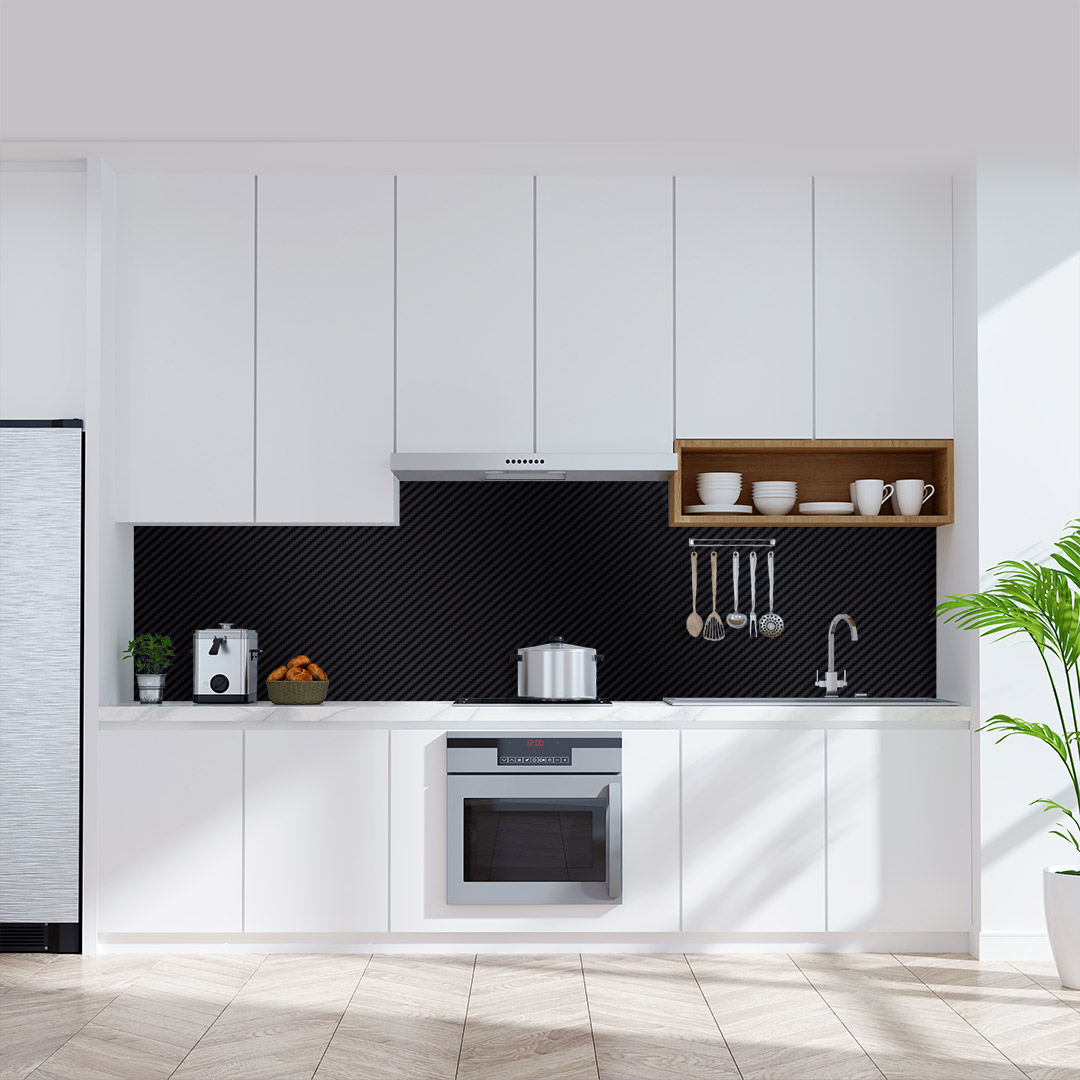 Küchenrückwand Carbon