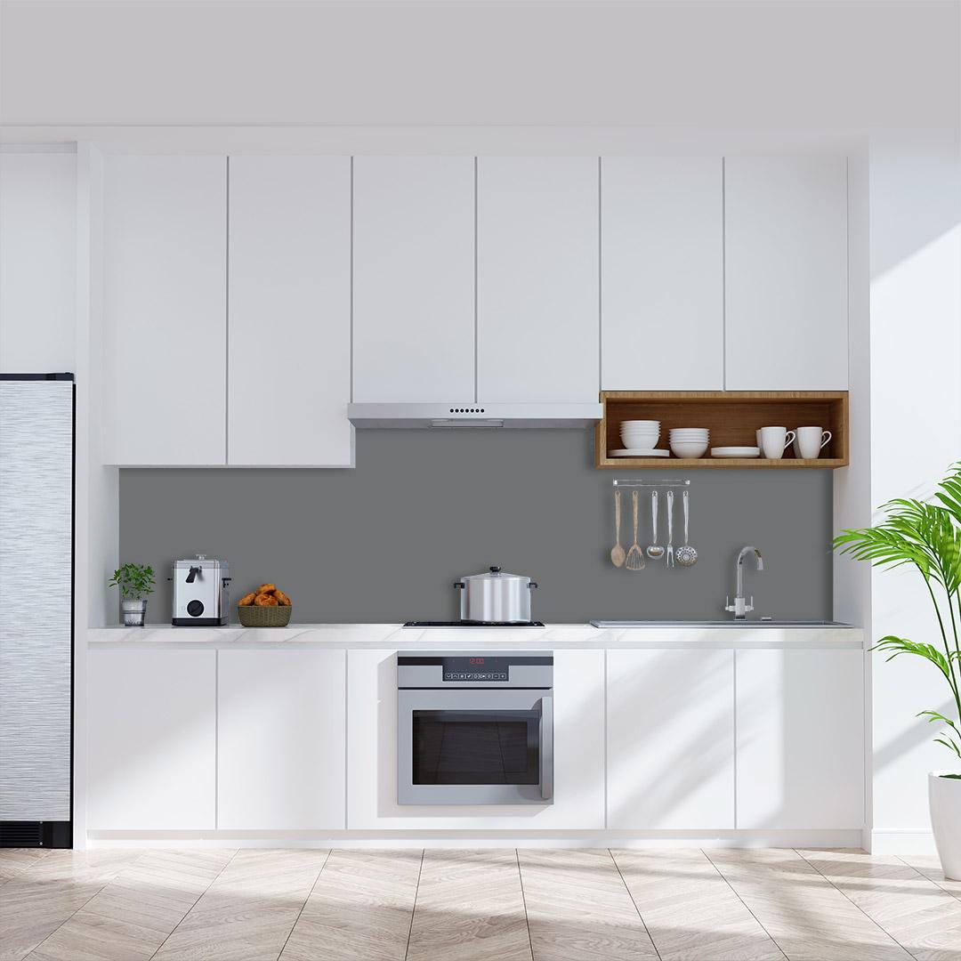 Küchenrückwand einfarbig dunkelgrau