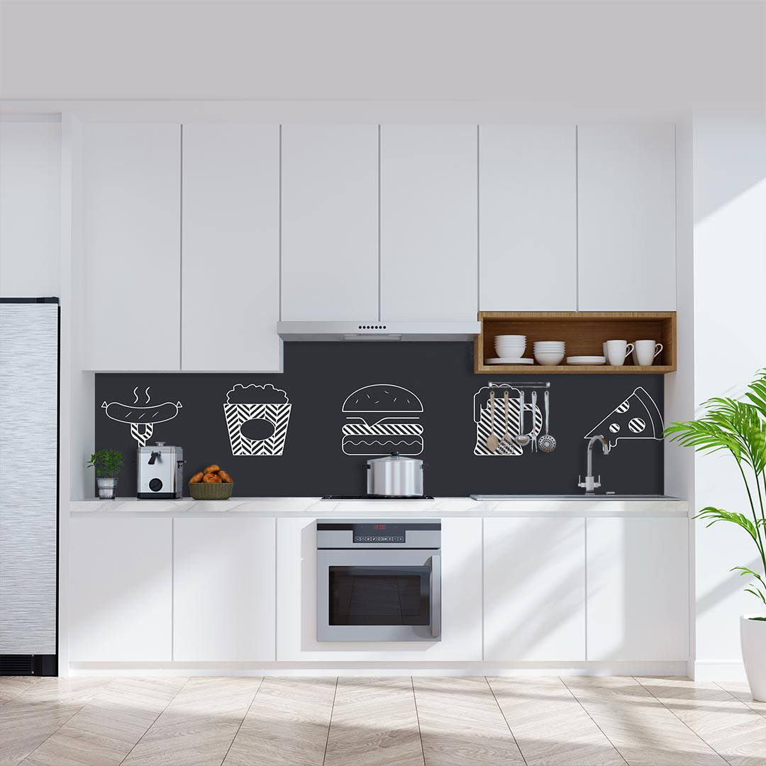 Küchenrückwand Essen Gestrichelt