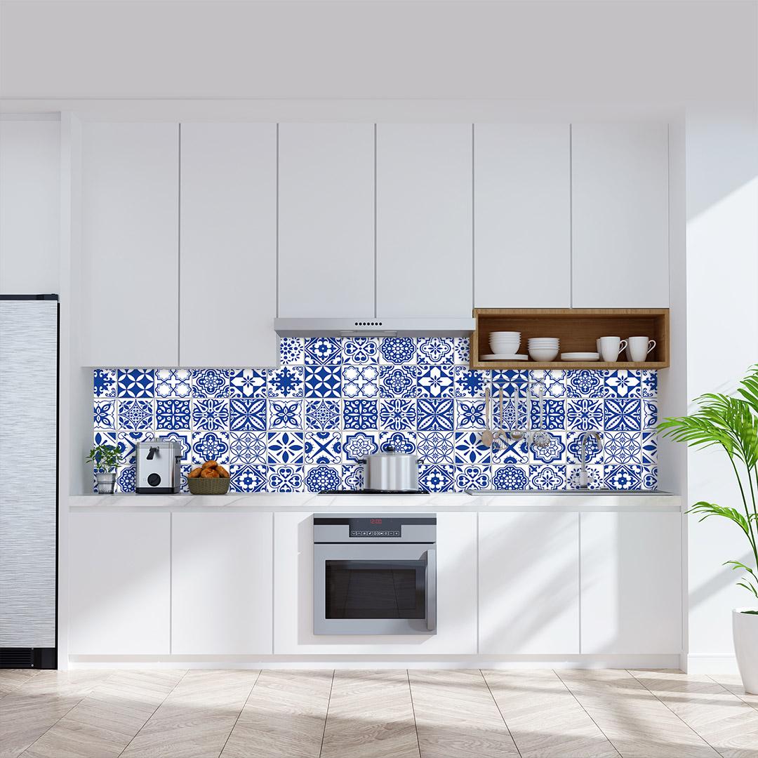 Küchenrückwand Fliesen Antioch Blue