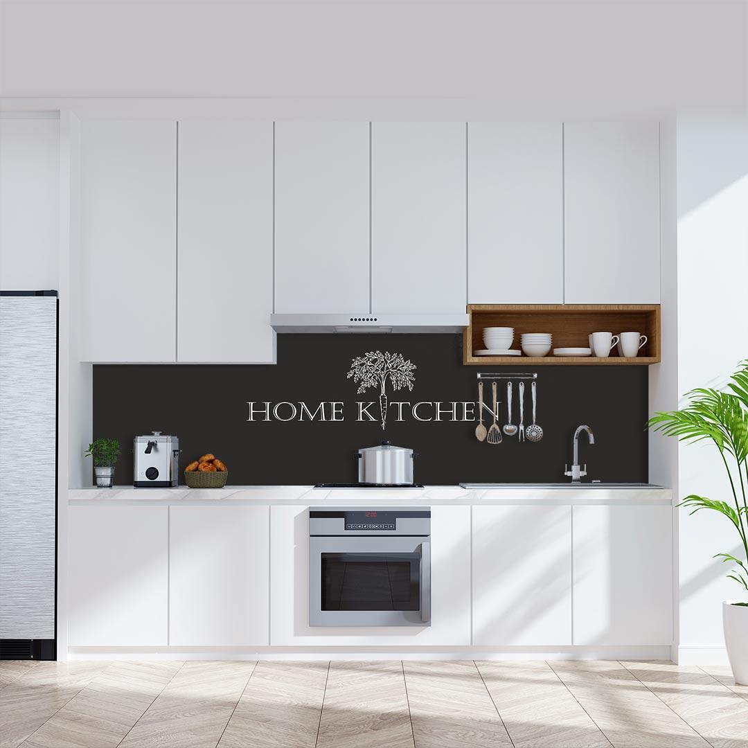 Küchenrückwand Home Kitchen schwarz