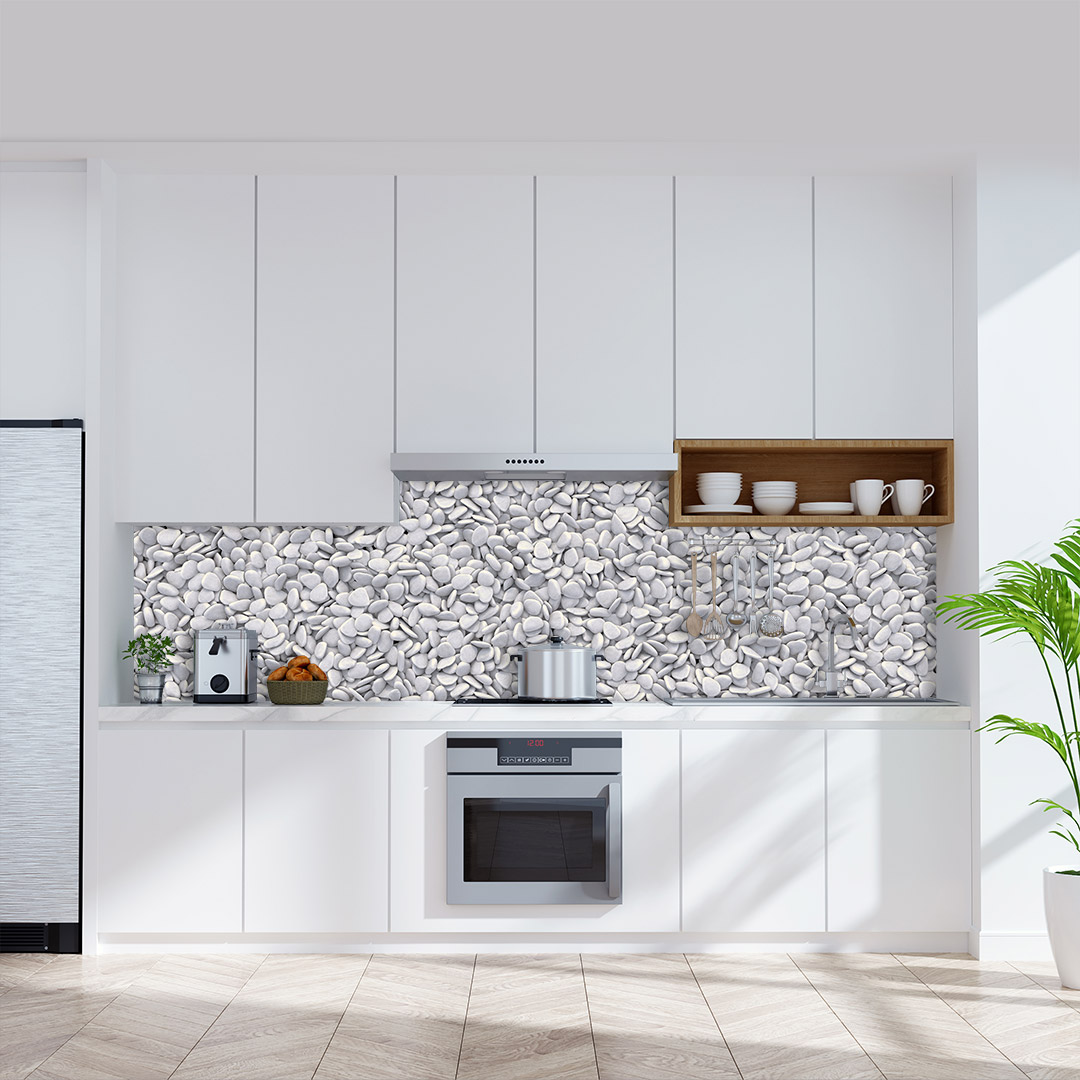 Küchenrückwand Kieselstein