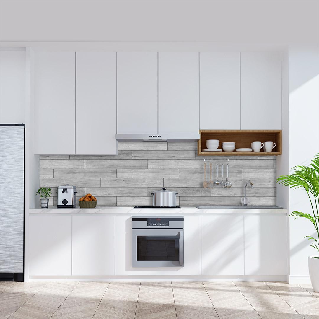 Küchenrückwand Holzgrau
