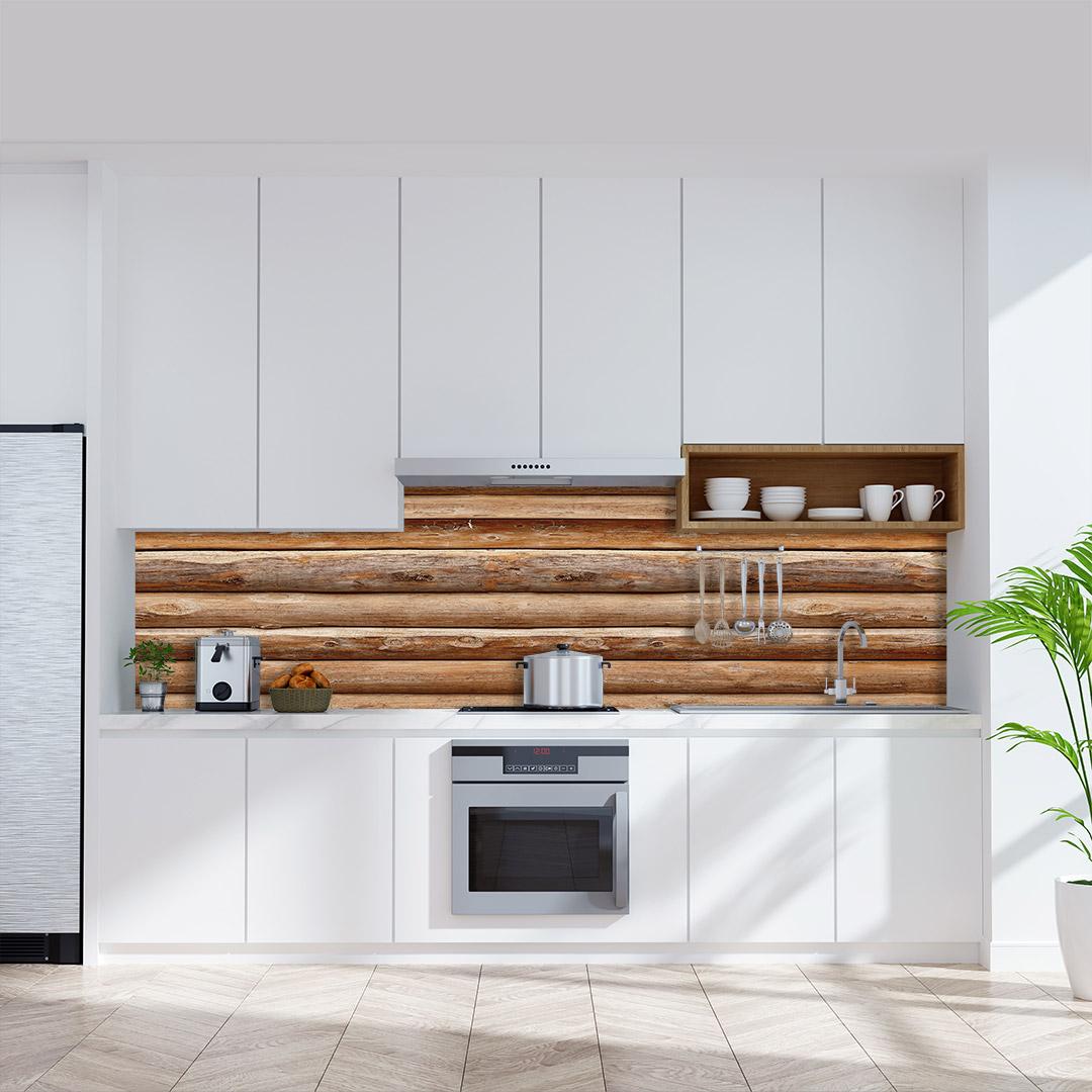 Küchenrückwand Holzhütte