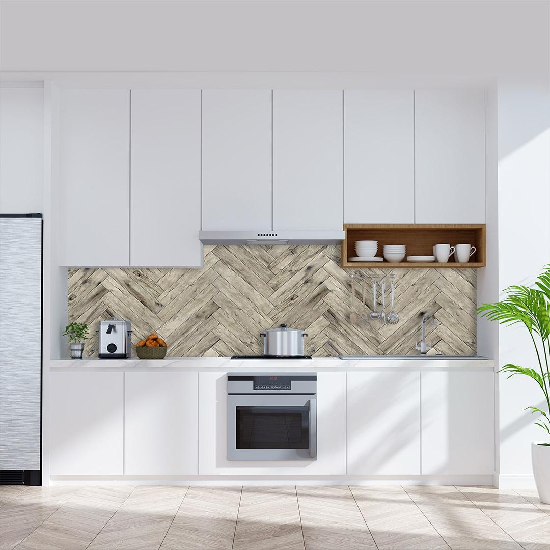 Küchenrückwand Parkett Natur