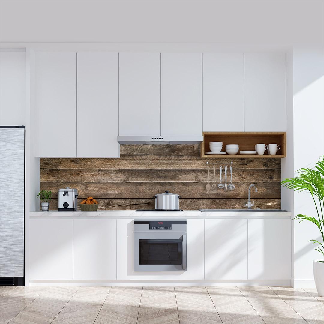 Küchenrückwand Pinienholz