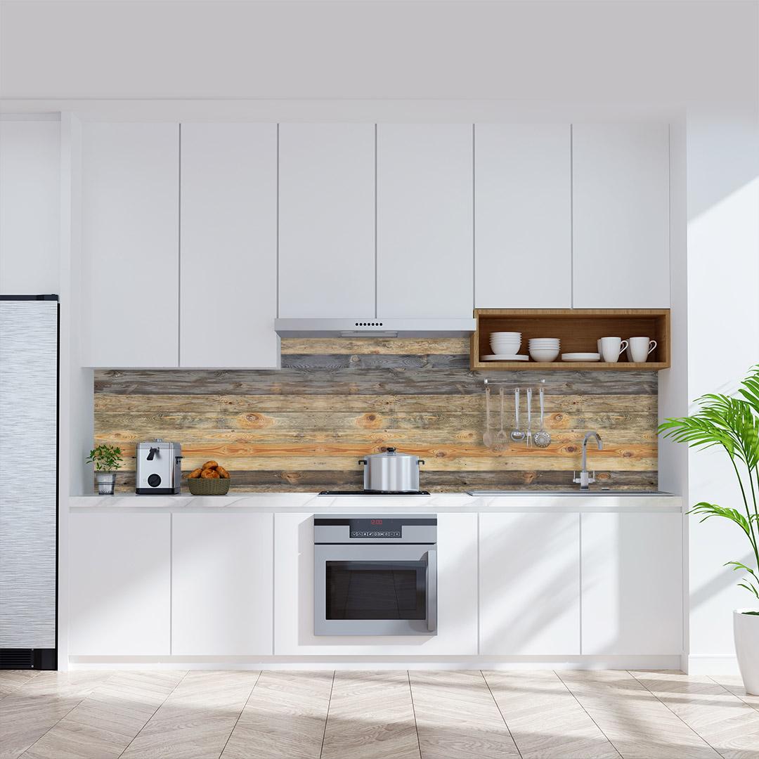Küchenrückwand Holz Vintage