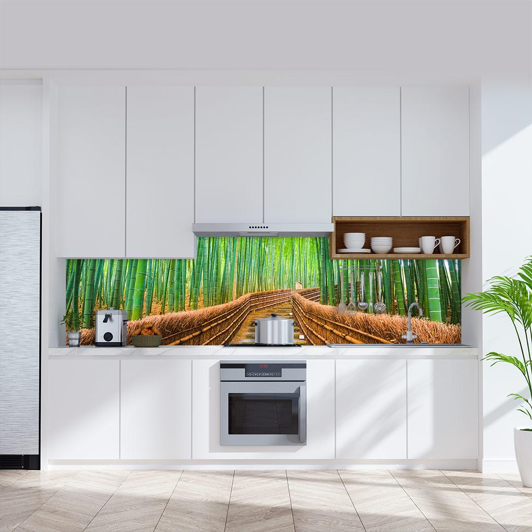 Küchenrückwand Bambuswald