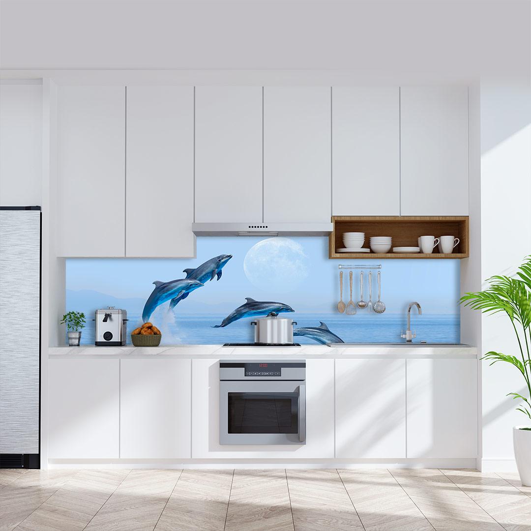 Küchenrückwand Delfine
