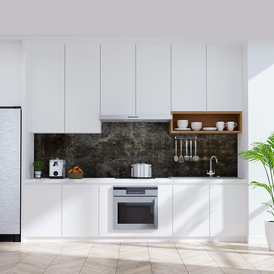 Küchenrückwand Beton Schwarz