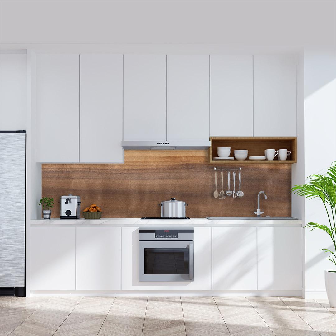 Küchenrückwand Aspen-Holz