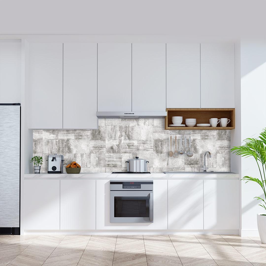 Küchenrückwand Beton Quadratisch