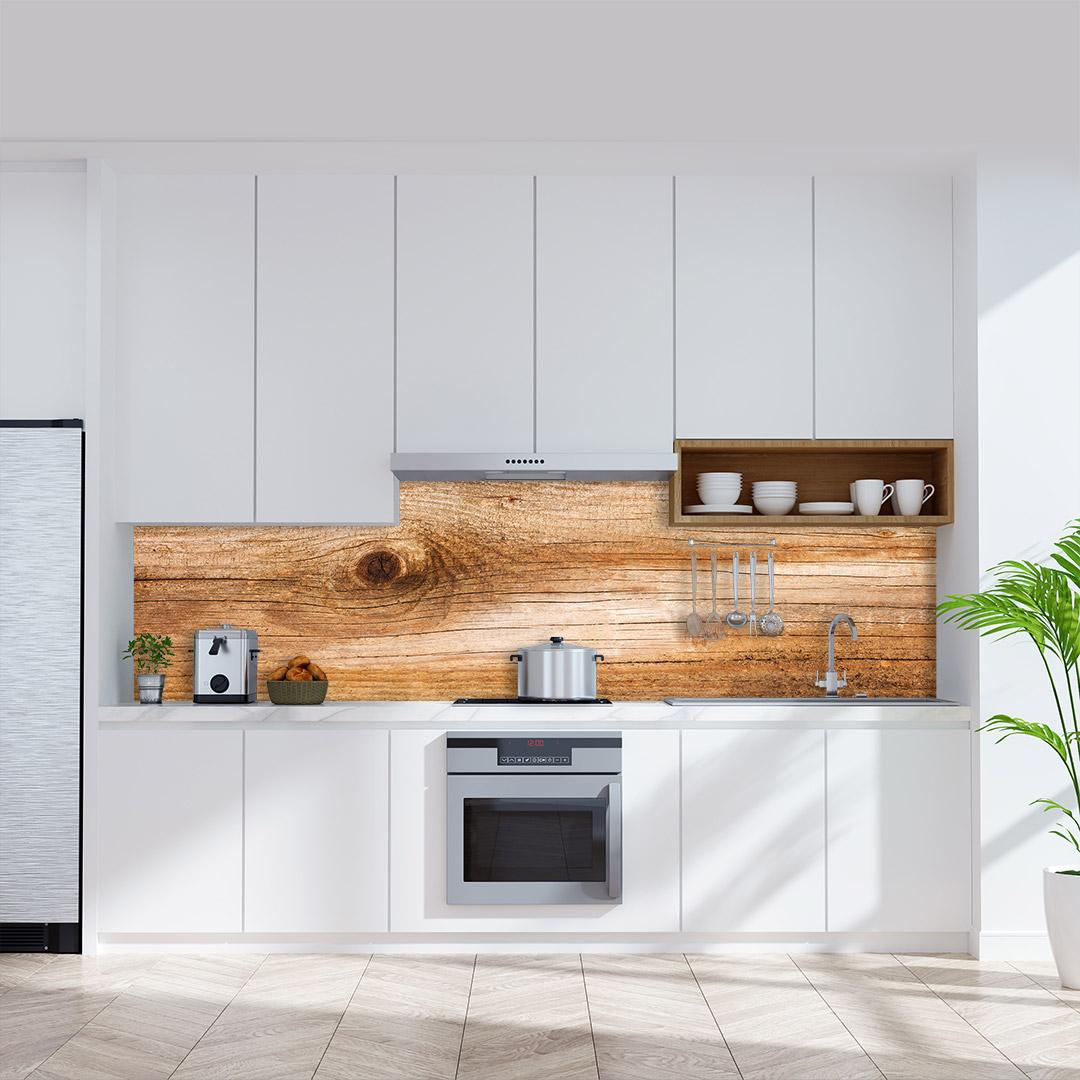 Küchenrückwand Tannenholz