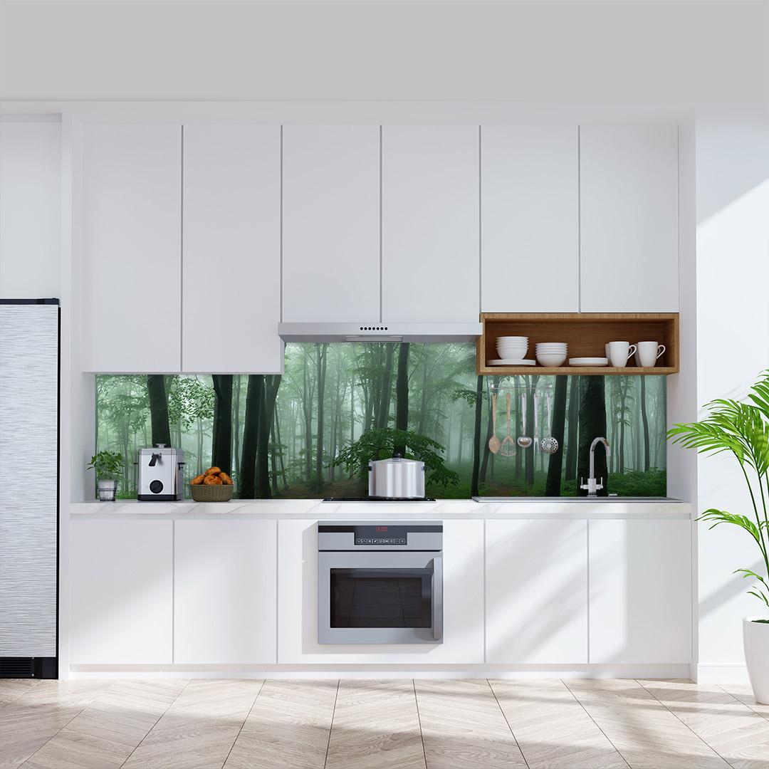 Küchenrückwand Nebeligen Wald