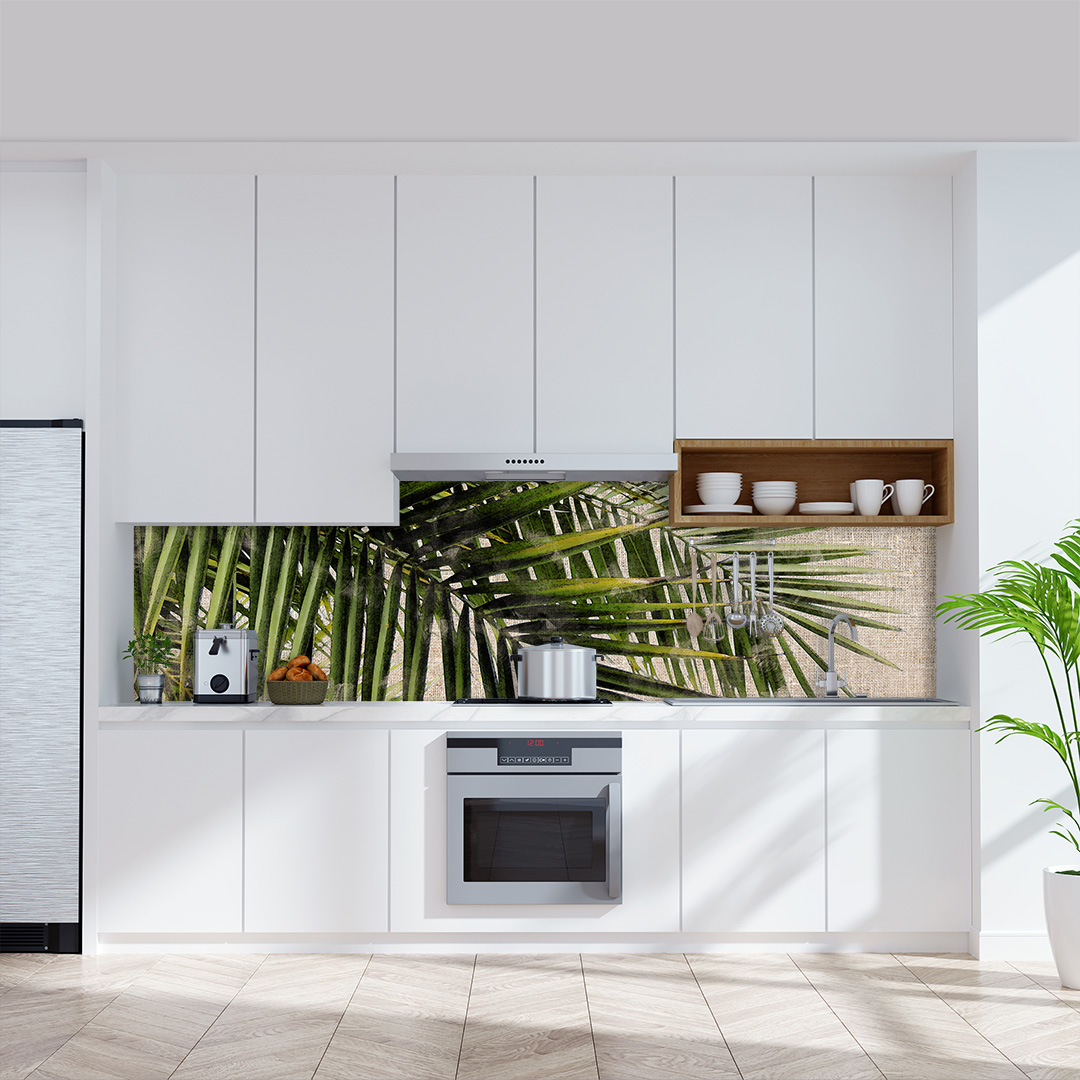 Küchenrückwand  Palmen Vintage