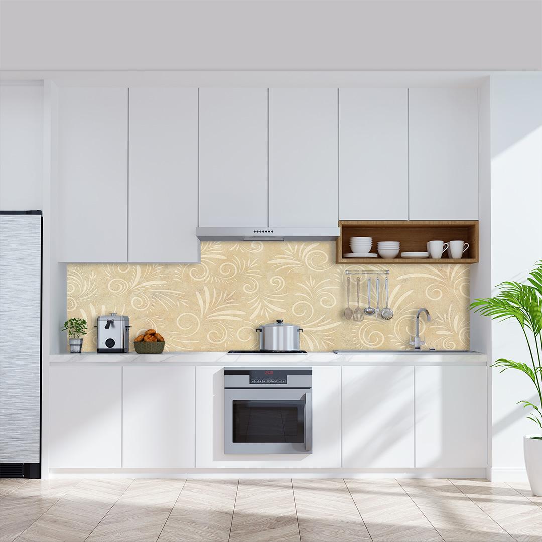 Küchenrückwand Kalkstein Floral