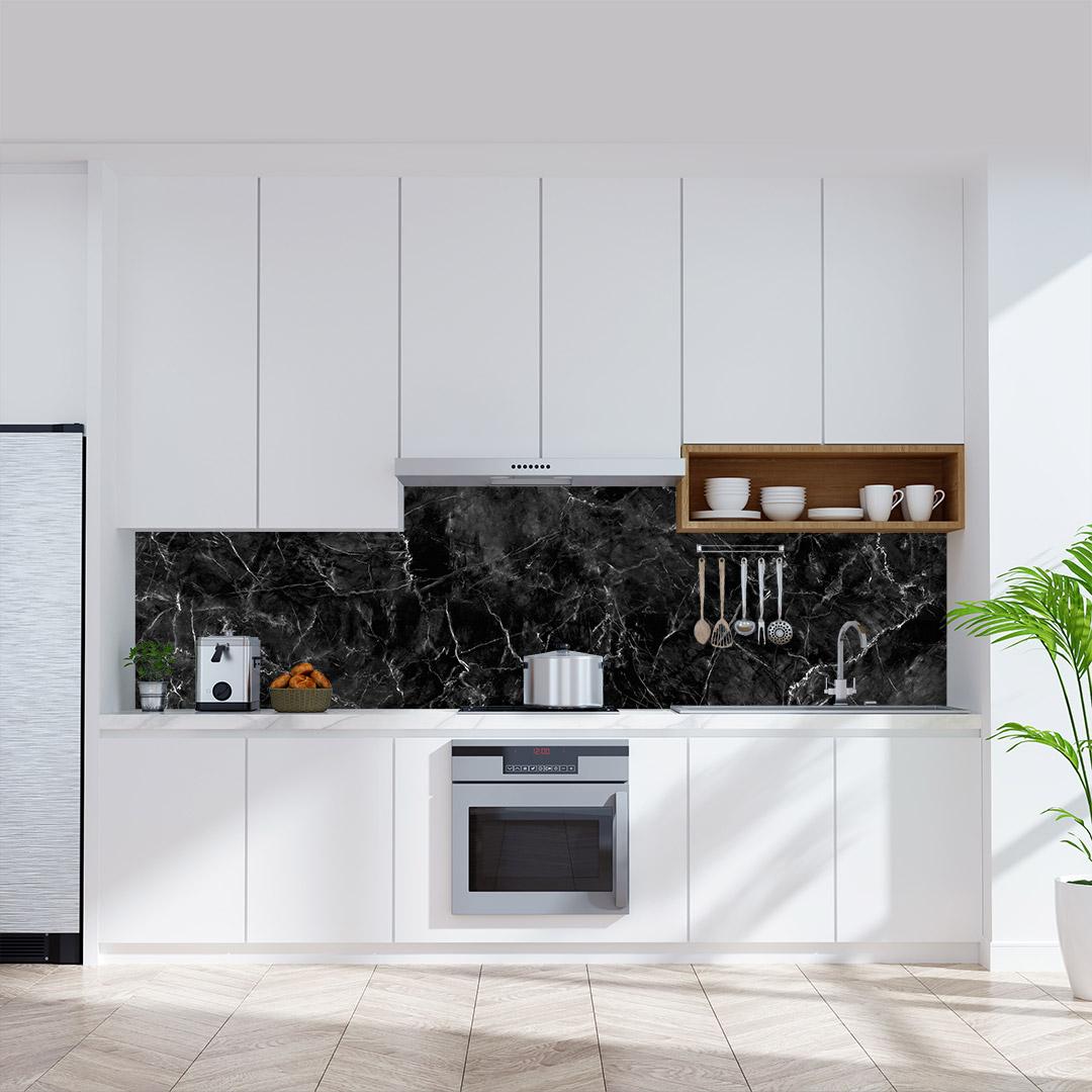 Küchenrückwand Marmor Dark