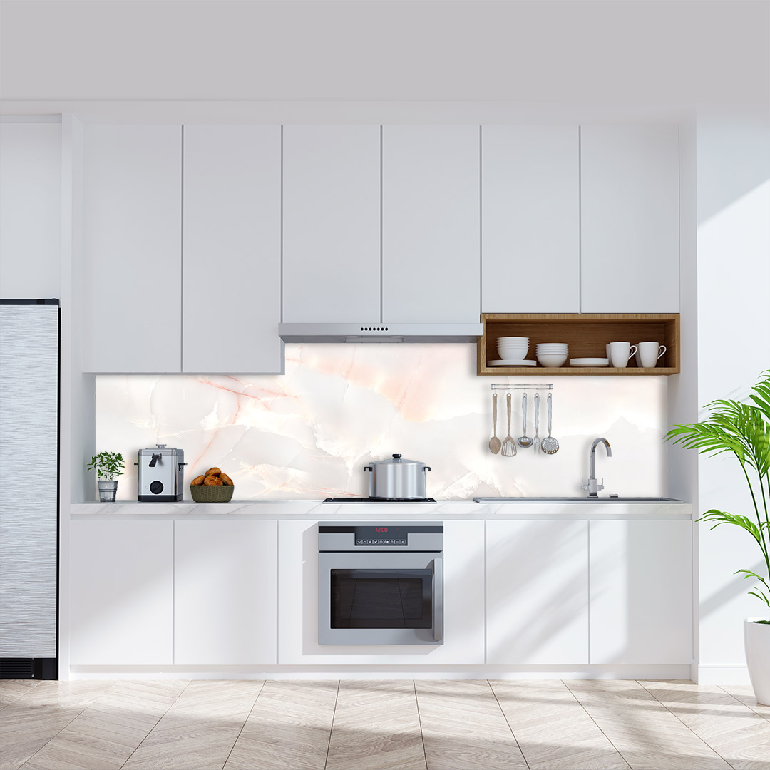 Küchenrückwand Marmor Rose