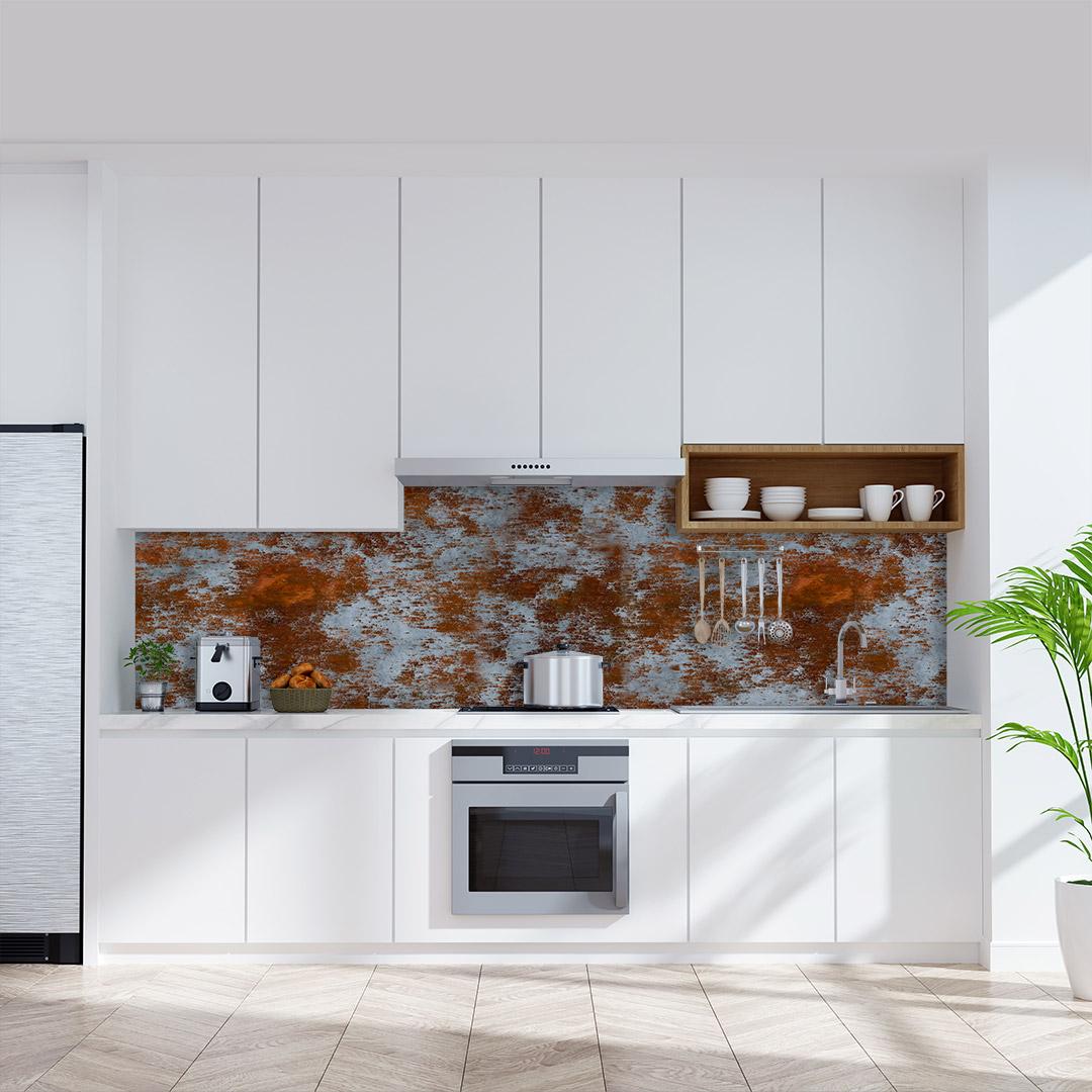 Küchenrückwand Metall Rost