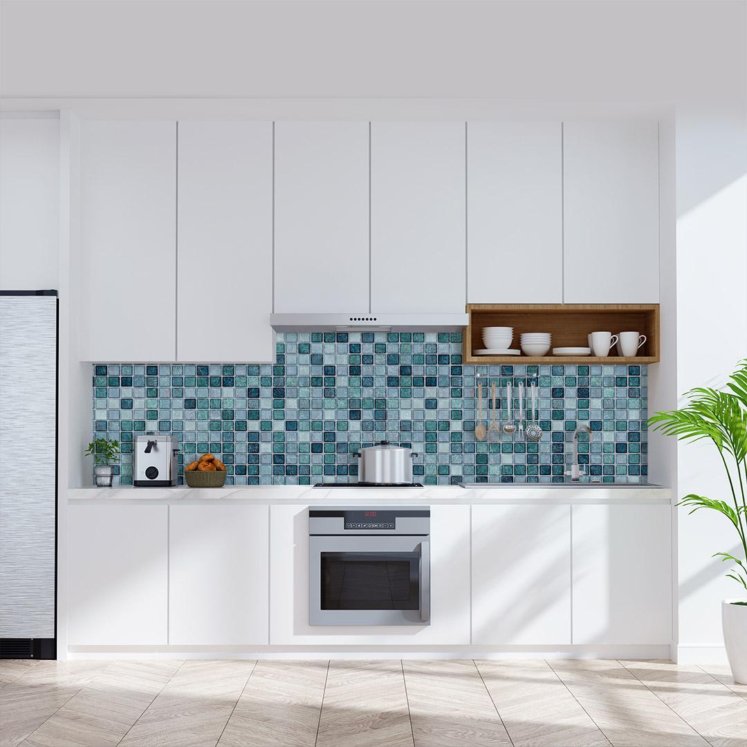 Küchenrückwand Mosaic Aqua