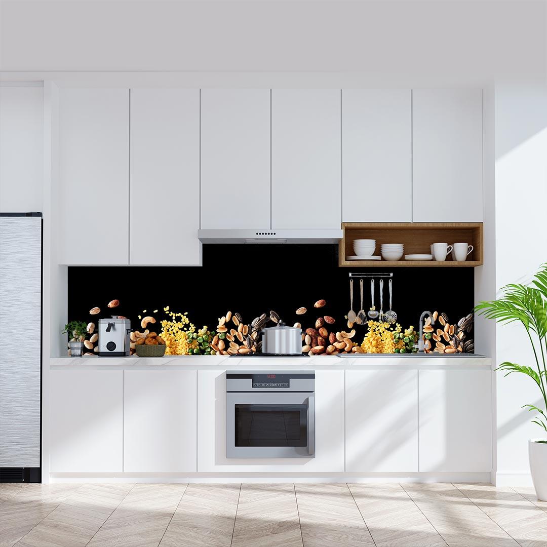 Küchenrückwand Nüsse