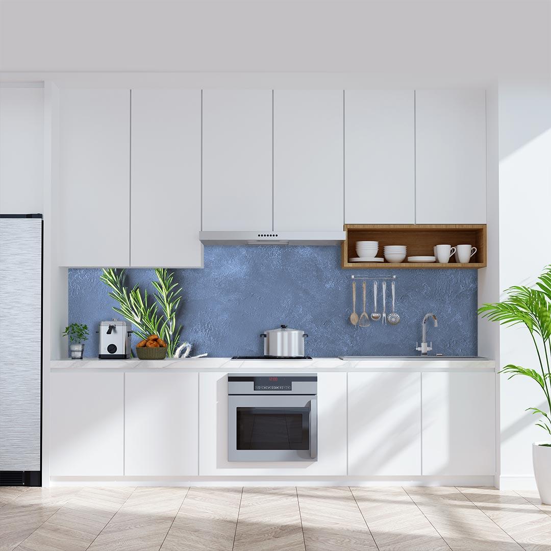 Küchenrückwand Rosmarin blau