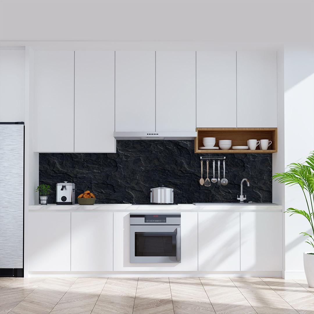 Küchenückwand Schiefer Steinplatte