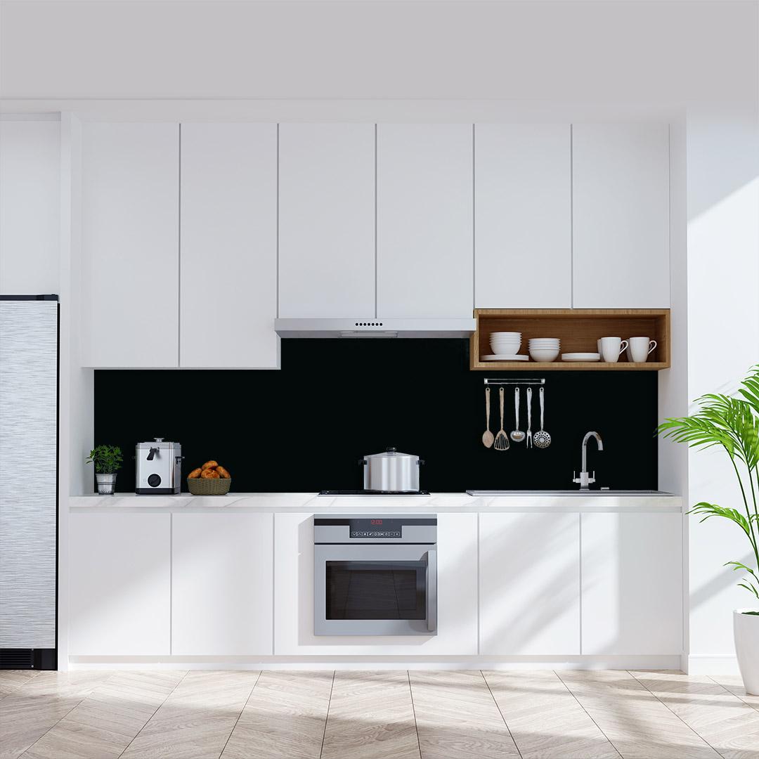 Küchenrückwand einfarbig schwarz