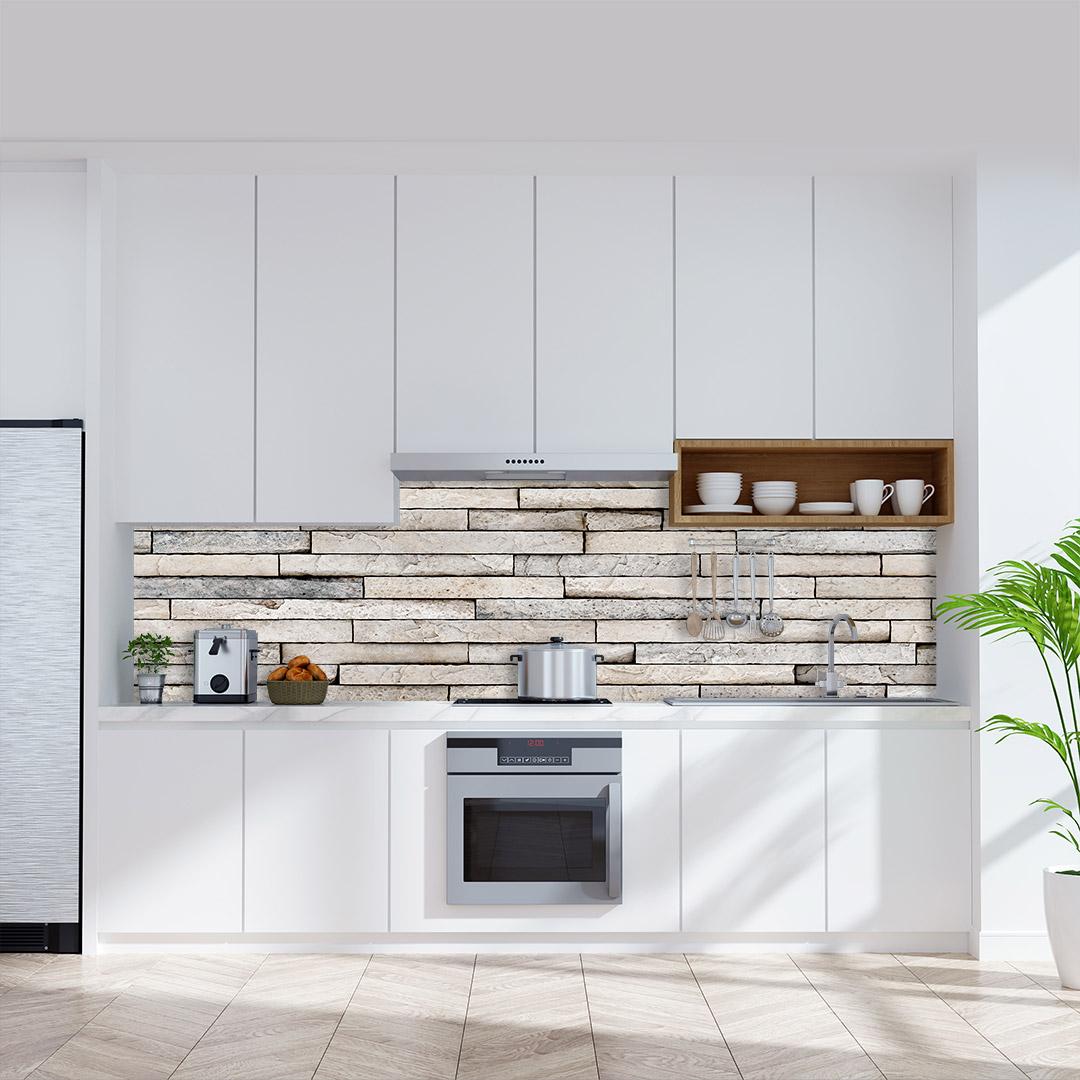 Küchenrückwand Steinblock