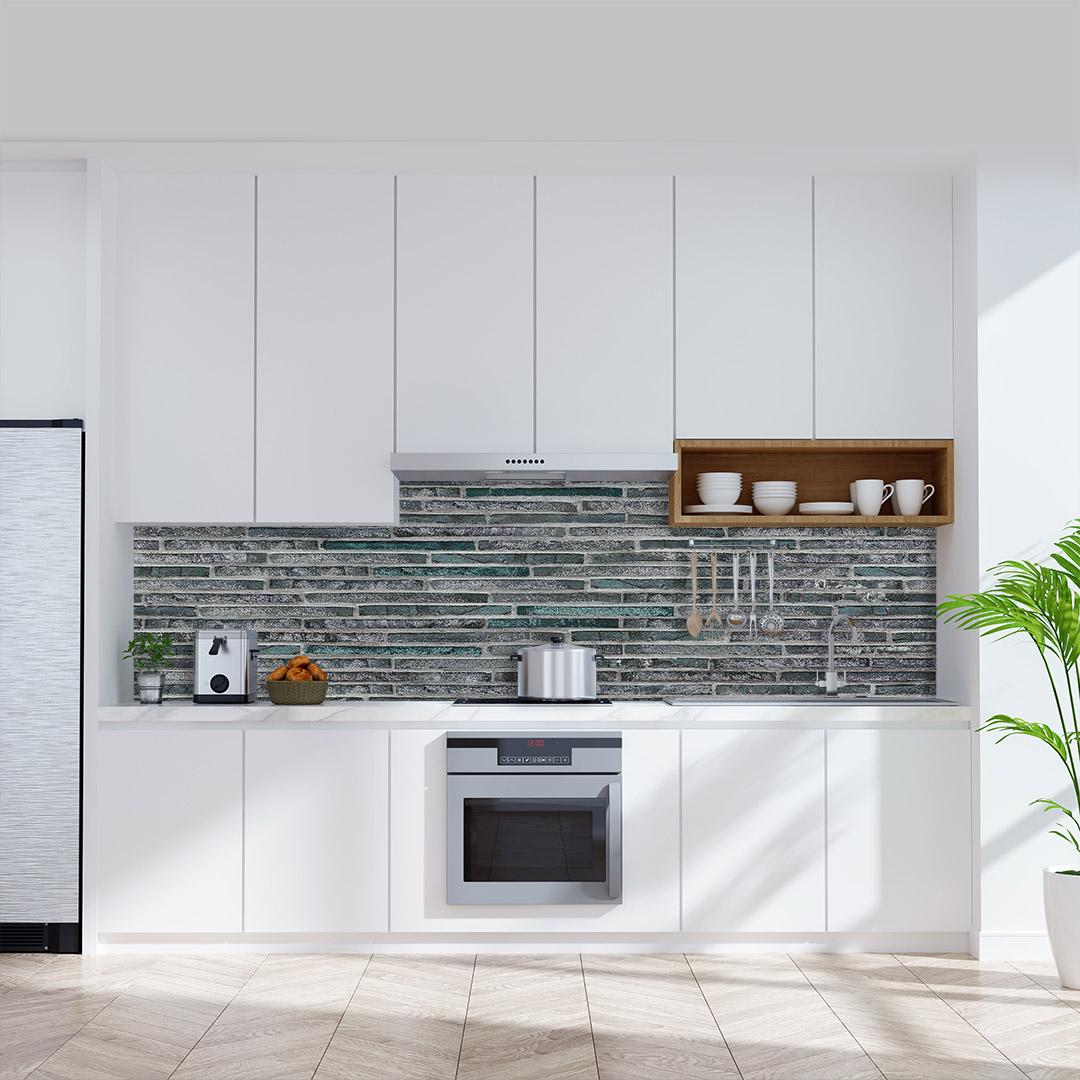 Küchenrückwand Stone Anthrazit Jade