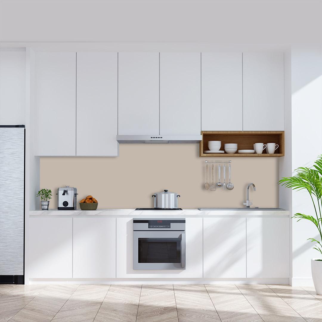 Küchenrückwand einfarbig taupe