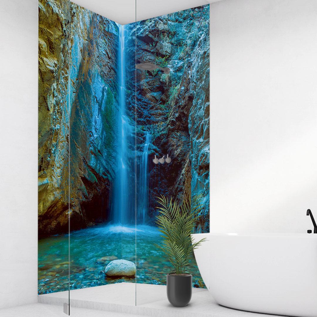 Wasserfall Eckdusche