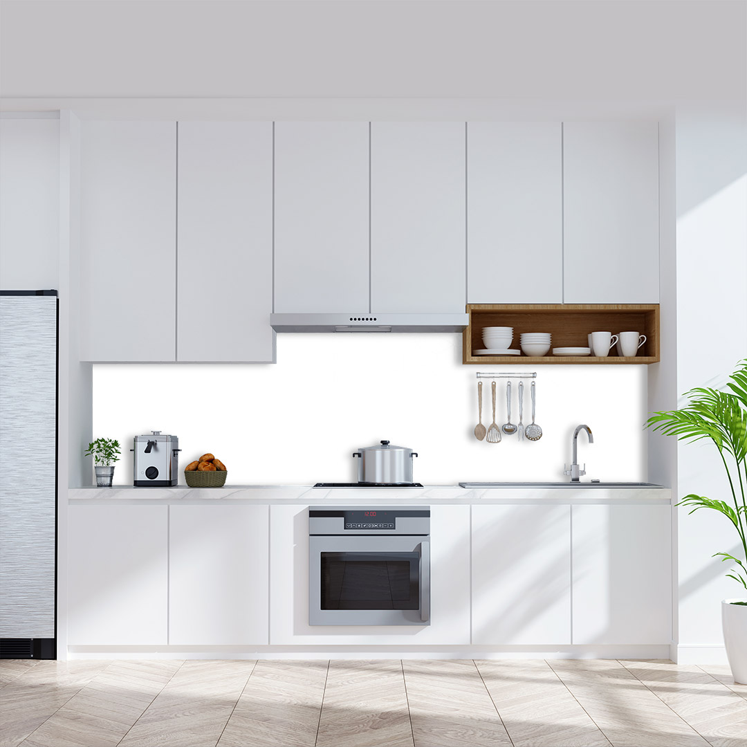 Küchenrückwand einfarbig weiß